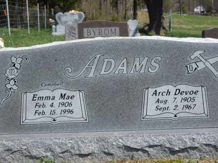 ADAMS, ARCH DEVOE - Boone County, Arkansas | ARCH DEVOE ADAMS - Arkansas Gravestone Photos