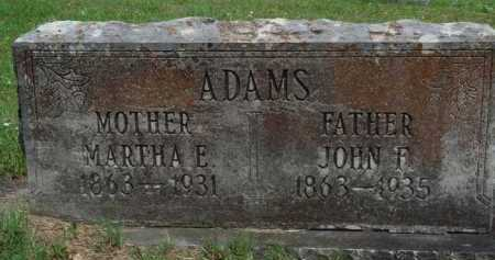 ADAMS, JOHN F. - Boone County, Arkansas | JOHN F. ADAMS - Arkansas Gravestone Photos