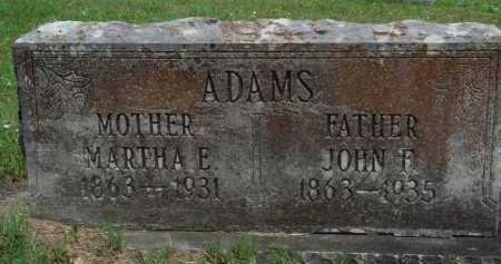 ADAMS, MARTHA E. - Boone County, Arkansas | MARTHA E. ADAMS - Arkansas Gravestone Photos