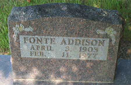 ADDISON, FONTE - Boone County, Arkansas | FONTE ADDISON - Arkansas Gravestone Photos