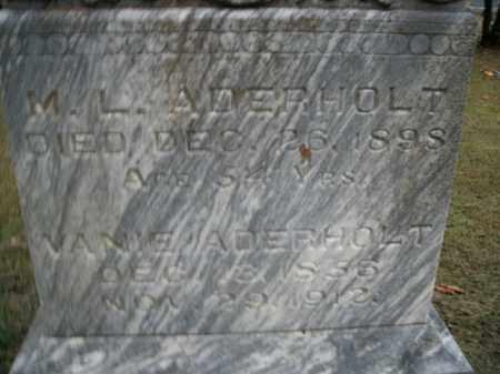 ADERHOLT, M.L. - Boone County, Arkansas | M.L. ADERHOLT - Arkansas Gravestone Photos