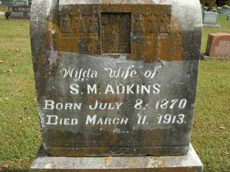 ADKINS, WILDA O. - Boone County, Arkansas | WILDA O. ADKINS - Arkansas Gravestone Photos