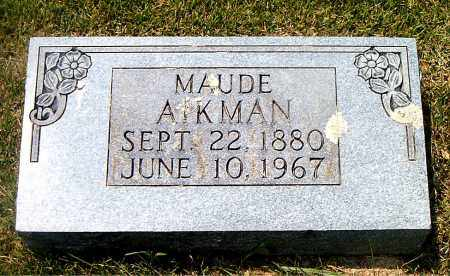 AIKMAN, MAUDE - Boone County, Arkansas | MAUDE AIKMAN - Arkansas Gravestone Photos