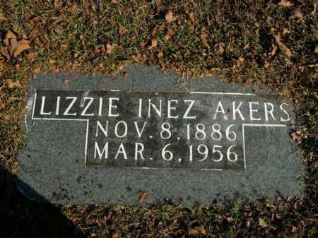 AKERS, LIZZIE INEZ - Boone County, Arkansas | LIZZIE INEZ AKERS - Arkansas Gravestone Photos
