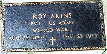 AKINS  (VETERAN WWI), ROY - Boone County, Arkansas | ROY AKINS  (VETERAN WWI) - Arkansas Gravestone Photos