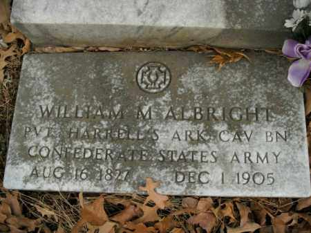 ALBRIGHT  (VETERAN CSA), WILLIAM MOSIER - Boone County, Arkansas | WILLIAM MOSIER ALBRIGHT  (VETERAN CSA) - Arkansas Gravestone Photos