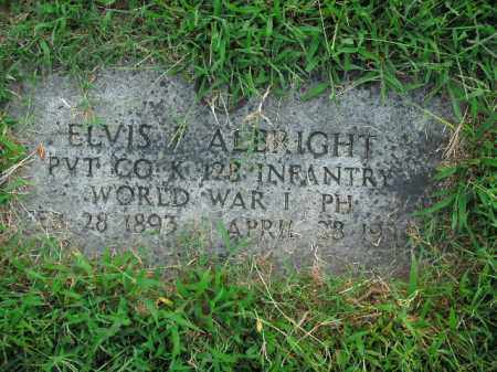 ALBRIGHT  (VETERAN WWI), ELVIS F - Boone County, Arkansas | ELVIS F ALBRIGHT  (VETERAN WWI) - Arkansas Gravestone Photos