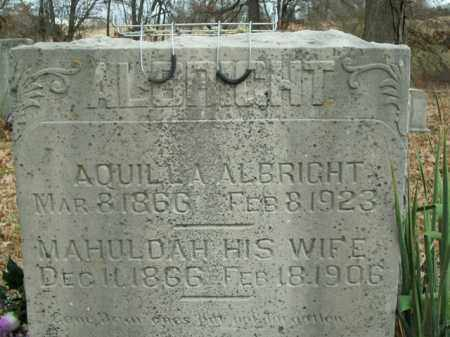 ALBRIGHT, MAHULDAH - Boone County, Arkansas | MAHULDAH ALBRIGHT - Arkansas Gravestone Photos
