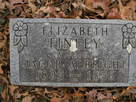 FINLEY ALBRIGHT, ELIZABETH - Boone County, Arkansas | ELIZABETH FINLEY ALBRIGHT - Arkansas Gravestone Photos