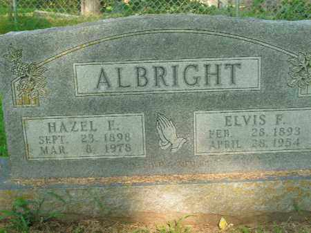 ALBRIGHT, ELVIS F. - Boone County, Arkansas | ELVIS F. ALBRIGHT - Arkansas Gravestone Photos