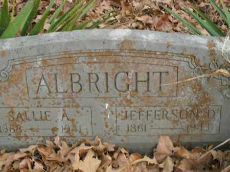 ALBRIGHT, SALLIE ARLENA - Boone County, Arkansas | SALLIE ARLENA ALBRIGHT - Arkansas Gravestone Photos