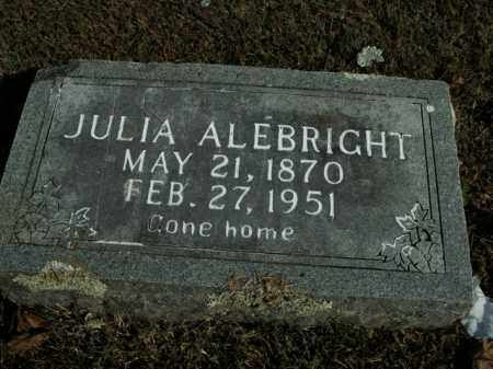 ALEBRIGHT, JULIA - Boone County, Arkansas | JULIA ALEBRIGHT - Arkansas Gravestone Photos