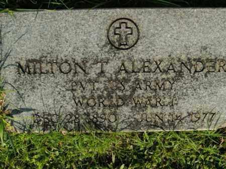 ALEXANDER  (VETERAN WWI), MILTON T - Boone County, Arkansas | MILTON T ALEXANDER  (VETERAN WWI) - Arkansas Gravestone Photos