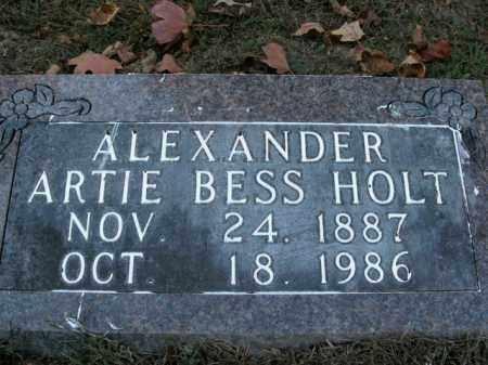 HOLT ALEXANDER, ARTIE BESS - Boone County, Arkansas | ARTIE BESS HOLT ALEXANDER - Arkansas Gravestone Photos
