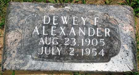 ALEXANDER, DEWEY F (SECOND STONE) - Boone County, Arkansas | DEWEY F (SECOND STONE) ALEXANDER - Arkansas Gravestone Photos