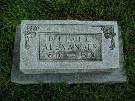 ALEXANDER, DELILAH E. - Boone County, Arkansas | DELILAH E. ALEXANDER - Arkansas Gravestone Photos