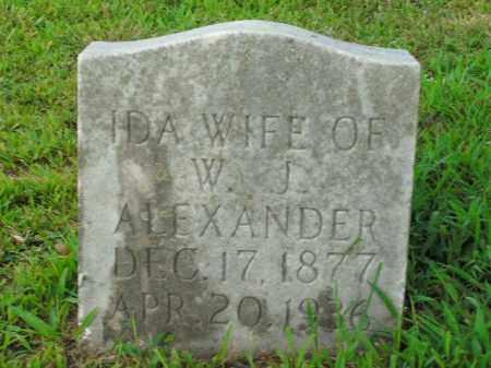 ALEXANDER, IDA - Boone County, Arkansas | IDA ALEXANDER - Arkansas Gravestone Photos