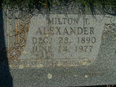 ALEXANDER, MILTON T. - Boone County, Arkansas | MILTON T. ALEXANDER - Arkansas Gravestone Photos