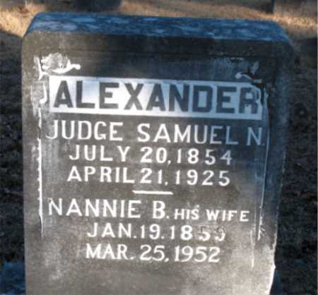 ALEXANDER, SAMUEL NEWTON (JUDGE) - Boone County, Arkansas | SAMUEL NEWTON (JUDGE) ALEXANDER - Arkansas Gravestone Photos