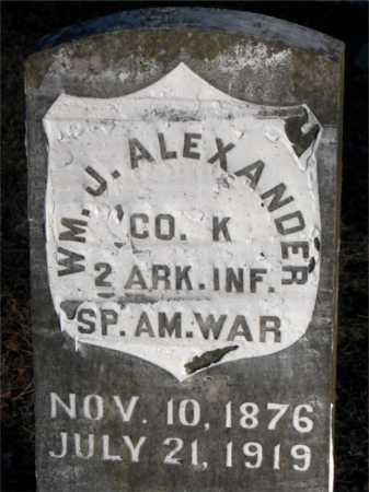 ALEXANDER  (VETERAN SAW), WILLIAM J - Boone County, Arkansas | WILLIAM J ALEXANDER  (VETERAN SAW) - Arkansas Gravestone Photos