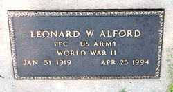 ALFORD  (VETERAN WWII), LEONARD W - Boone County, Arkansas | LEONARD W ALFORD  (VETERAN WWII) - Arkansas Gravestone Photos