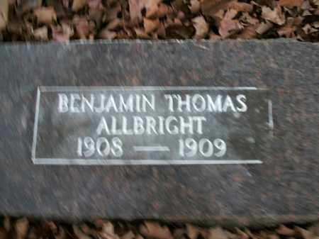 ALLBRIGHT, BENJAMIN THOMAS - Boone County, Arkansas | BENJAMIN THOMAS ALLBRIGHT - Arkansas Gravestone Photos