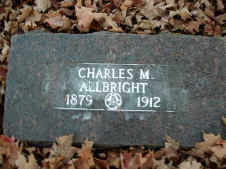ALLBRIGHT, CHARLES M. - Boone County, Arkansas | CHARLES M. ALLBRIGHT - Arkansas Gravestone Photos