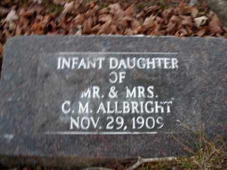 ALLBRIGHT, INFANT DAUGHTER - Boone County, Arkansas | INFANT DAUGHTER ALLBRIGHT - Arkansas Gravestone Photos