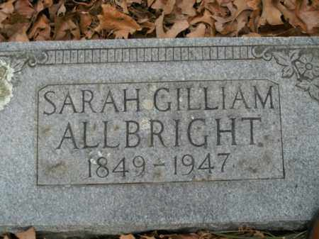 GILLIAM ALLBRIGHT, SARAH - Boone County, Arkansas | SARAH GILLIAM ALLBRIGHT - Arkansas Gravestone Photos