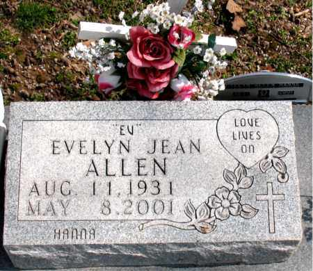 ALLEN, EVELYN JEAN (EV) - Boone County, Arkansas | EVELYN JEAN (EV) ALLEN - Arkansas Gravestone Photos