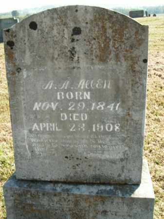 ALLEN  (VETERAN UNION), AARON ANDREW - Boone County, Arkansas | AARON ANDREW ALLEN  (VETERAN UNION) - Arkansas Gravestone Photos