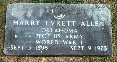 ALLEN  (VETERAN WWI), HARRY EVRETT - Boone County, Arkansas | HARRY EVRETT ALLEN  (VETERAN WWI) - Arkansas Gravestone Photos