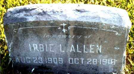 ALLEN, IRBIE  L. - Boone County, Arkansas | IRBIE  L. ALLEN - Arkansas Gravestone Photos