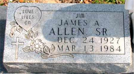 ALLEN, JAMES A.  SR. - Boone County, Arkansas | JAMES A.  SR. ALLEN - Arkansas Gravestone Photos