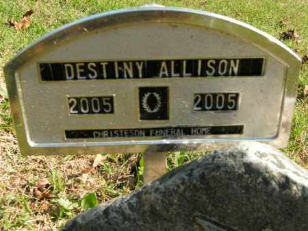 ALLISON, DESTINY - Boone County, Arkansas | DESTINY ALLISON - Arkansas Gravestone Photos