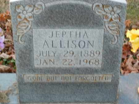 ALLISON, JEPTHA - Boone County, Arkansas | JEPTHA ALLISON - Arkansas Gravestone Photos