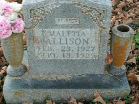 ALLISON, MALETIA - Boone County, Arkansas | MALETIA ALLISON - Arkansas Gravestone Photos