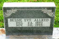ALLRED, BESSIE EVE - Boone County, Arkansas | BESSIE EVE ALLRED - Arkansas Gravestone Photos