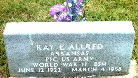 ALLRED  (VETERAN WWII), RAY  E - Boone County, Arkansas | RAY  E ALLRED  (VETERAN WWII) - Arkansas Gravestone Photos