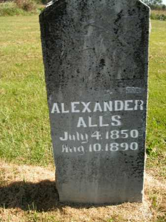 ALLS, ALEXANDER - Boone County, Arkansas | ALEXANDER ALLS - Arkansas Gravestone Photos