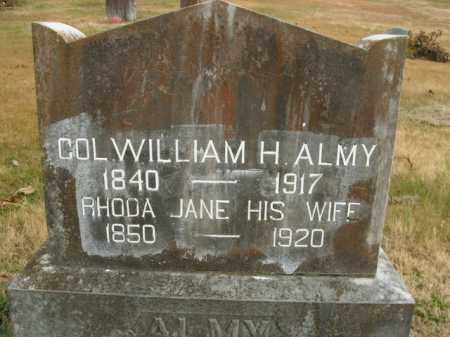 ALMY, WILLIAM H (COLONEL) - Boone County, Arkansas | WILLIAM H (COLONEL) ALMY - Arkansas Gravestone Photos