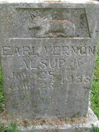 ALSUP, EARL VERNON, JR - Boone County, Arkansas | EARL VERNON, JR ALSUP - Arkansas Gravestone Photos