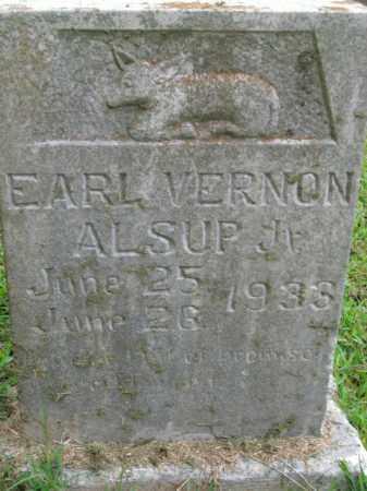 ALSUP, EARL VERNON, JR - Boone County, Arkansas | EARL VERNON, JR ALSUP - Arkansas Gravestone Photos