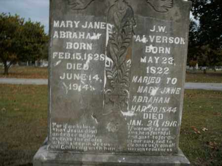 ALVERSON, MARY JANE - Boone County, Arkansas | MARY JANE ALVERSON - Arkansas Gravestone Photos