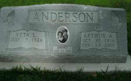 ANDERSON, ARTHUR A. - Boone County, Arkansas | ARTHUR A. ANDERSON - Arkansas Gravestone Photos