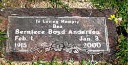 BOYD ANDERSON, BERNIECE - Boone County, Arkansas | BERNIECE BOYD ANDERSON - Arkansas Gravestone Photos