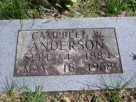 ANDERSON, CAMPBELL W. - Boone County, Arkansas | CAMPBELL W. ANDERSON - Arkansas Gravestone Photos