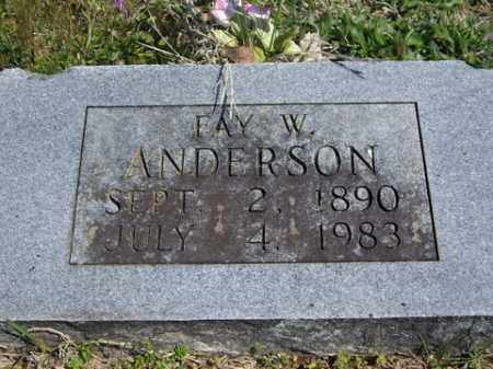 WILLIAMS ANDERSON, FAY W. - Boone County, Arkansas | FAY W. WILLIAMS ANDERSON - Arkansas Gravestone Photos