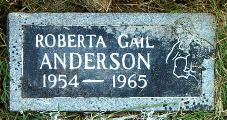 ANDERSON, ROBERTA  GAIL - Boone County, Arkansas | ROBERTA  GAIL ANDERSON - Arkansas Gravestone Photos