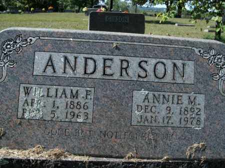 ANDERSON, WILLIAM FRANK - Boone County, Arkansas | WILLIAM FRANK ANDERSON - Arkansas Gravestone Photos